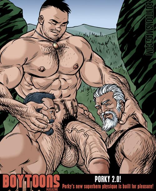 porn comic porky Logan gay