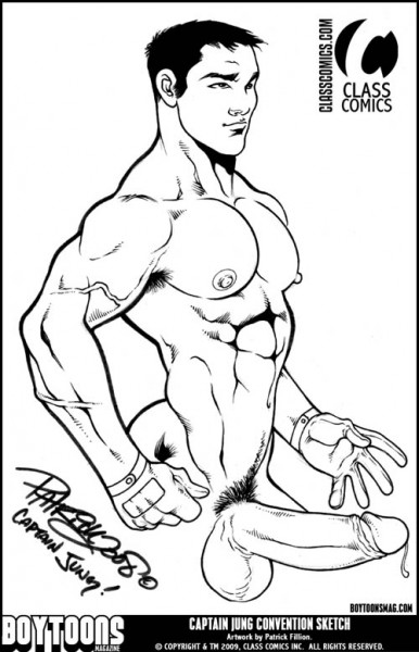 """""""Captain Jung"""" Convention Style Sketch by Patrick Fillion."""
