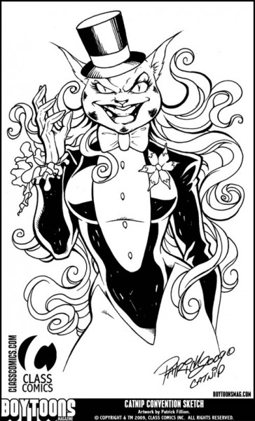 """Catnip"" Convention Style Sketch by Patrick Fillion."