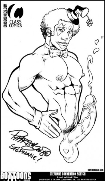 """Stephane"" Convention Style Sketch by Patrick Fillion."