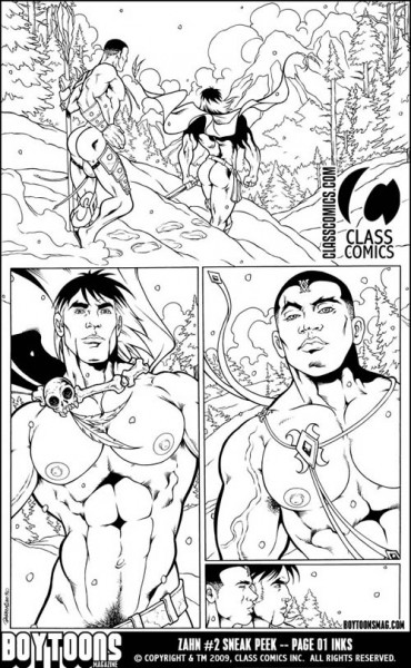 Zahn #2 Sneak Peek - Here are the inks for page 01.