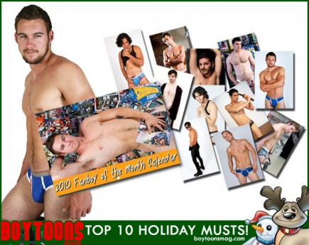 BOYTOONS MAGAZINE top 10 Holiday Musts. #1 - The 2010 Fanboys of the Universe Calendar.