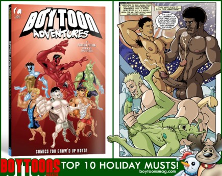 BOYTOONS MAGAZINE top 10 Holiday Musts. Boytoon Adventures #1.