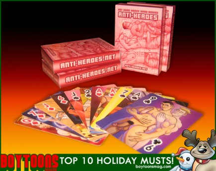 BOYTOONS MAGAZINE top 10 Holiday Musts. The Anti - Heroes Deck of Cards.