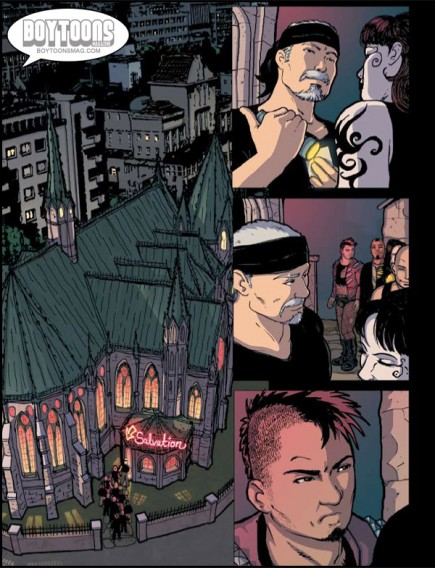 "A page from NIGHTLIFE, excerpt from Bastian Jonsson's (current) favorite story ""Closing Time""."