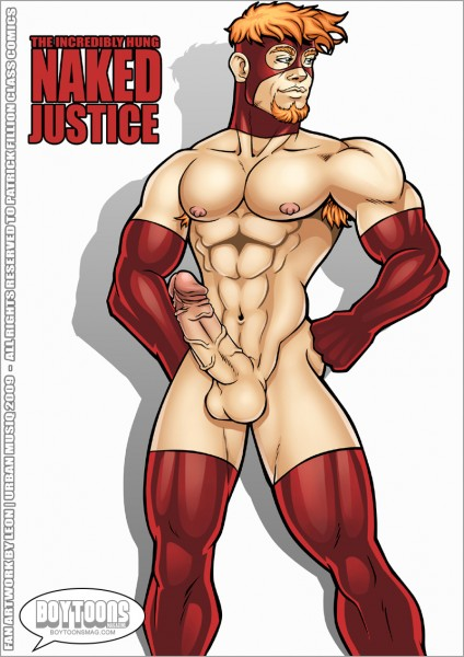 Leon de Leon/Urbanmusiq's take on Class Comics' NAKED JUSTICE!