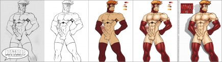 Leon de Leon/Urbanmusiq's take on Class Comics' NAKED JUSTICE! Step by Step.
