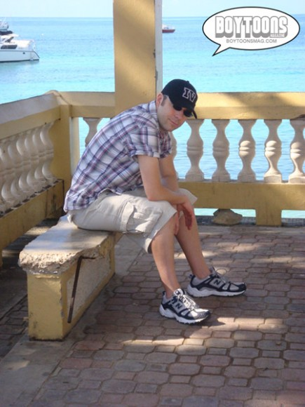 Yours truly, pooped after a whole day of touring Vieques on foot!