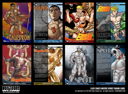 The new Class Comics Universe Heroes trading cards -- get some free with your order.