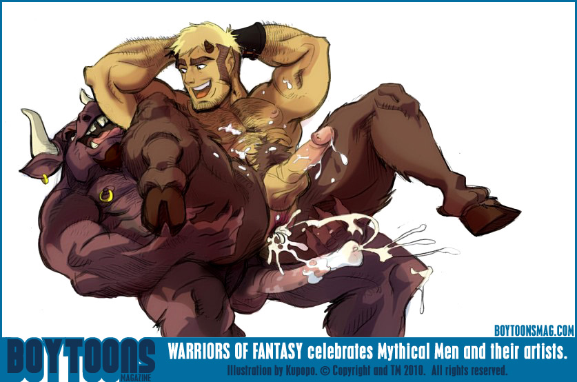 Youll find many kinds of mythical males on warriors of fantasy such as kupopos satyr and minotaur